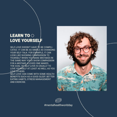 Instagram Post Design Creator to Share Mental Health Information in a Carousel 4414c-el1