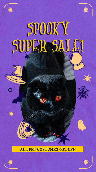 Pet-Themed Instagram Story Maker for a Halloween Super Sale 4082a