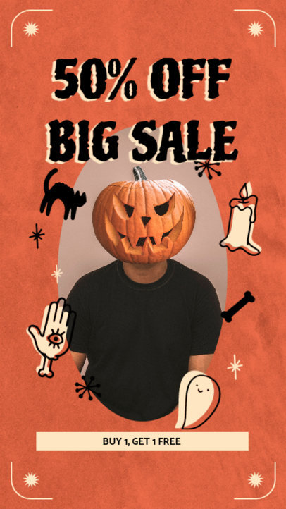 Halloween-Themed Facebook Story Maker to Announce a Special Promo 4082b