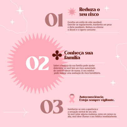 Instagram Post Design Generator Inspired by Breast Cancer Awareness Month 4063a