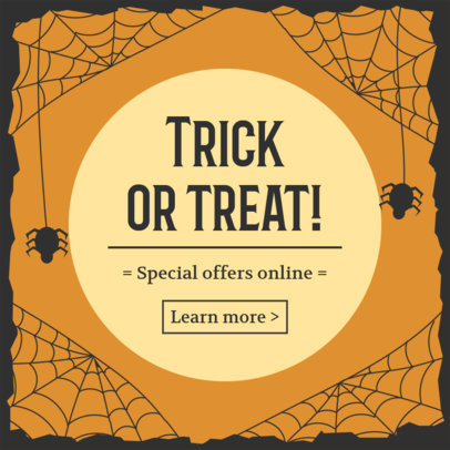 Halloween-Themed Ad Banner Creator for a Special Online Offer 4079g