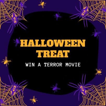 Instagram Post Design Creator for a Special Halloween Giveaway 4080c
