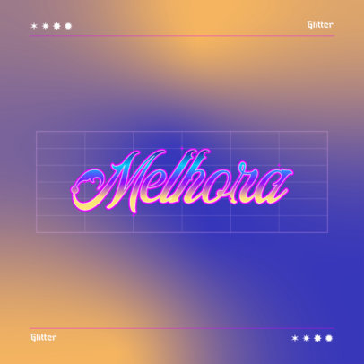 Retro Logo Generator Featuring a Typography with a Metallic Effect 4667f