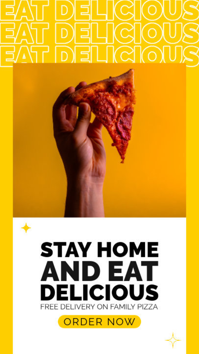 Facebook Story Template With a Food Delivery Theme and Pizza Graphics 4447f-el1