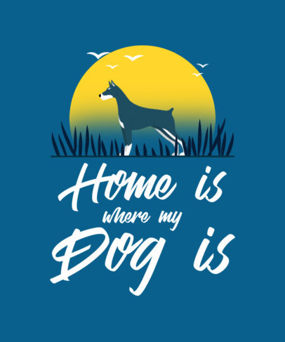 T-Shirt Design Generator Featuring a Quote About Dogs 4443b-el1
