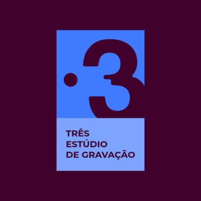 Modern Logo Creator for a Recording Studio 4677o