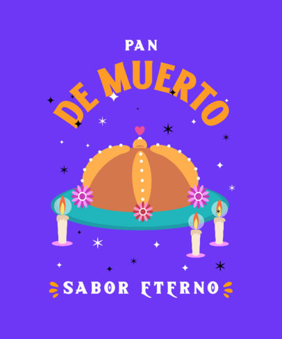T-Shirt Design Generator Featuring a Day of the Dead Bread Clipart 4105b