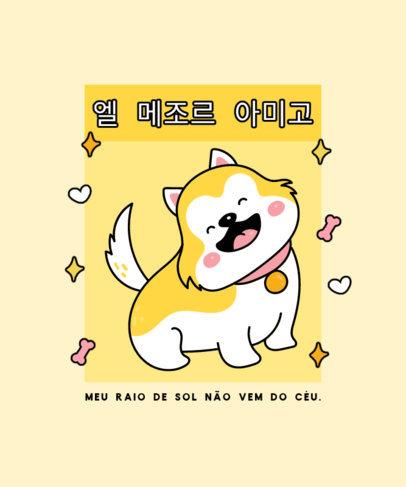 Cute T-Shirt Design Creator for a Dog's Best Friend 4437f-el1