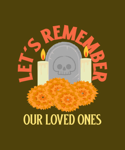 Illustrated T-Shirt Design Generator for a Day of the Dead Celebration 4104c