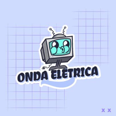 Logo Generator for a Tech Blogger with a Retro TV Cartoon 4680j