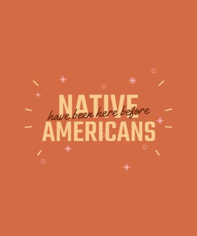 T-Shirt Design Maker to Celebrate Indigenous Peoples' Day 2957v-4093