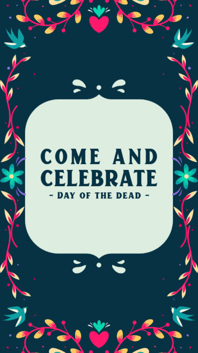 Instagram Story Creator Inviting to Celebrate the Day of the Dead 4107f