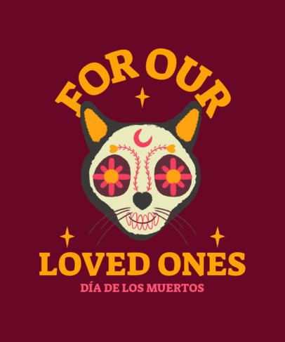 T-Shirt Design Maker a Colorful Illustration for Day of the Dead 4104d