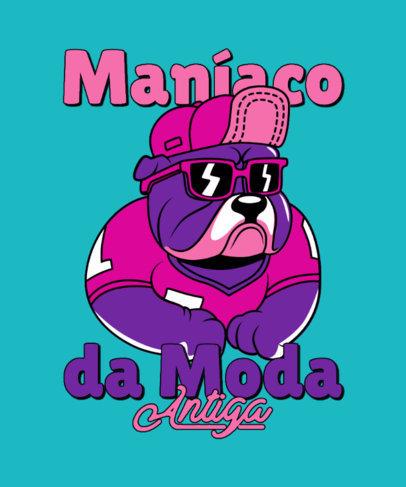 T-Shirt Design Template with a Streetwear-Style Dog Cartoon 4681e