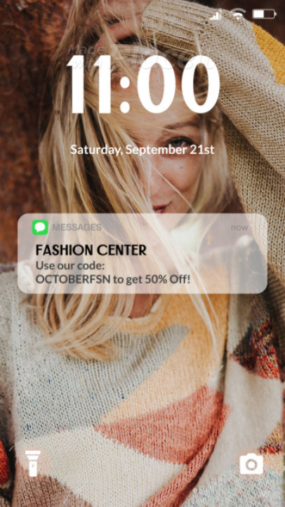 Instagram Story Video Maker for a Fashion Brand Featuring an App Notification 3988a 4136