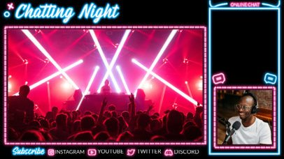 Laser-Themed Twitch Overlay Template for a Just Chatting Stream 4468-el1