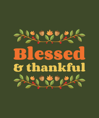 T-Shirt Design Maker Featuring Thanksgiving Quotes 4124