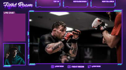 Twitch Overlay Design Template for a Sports-Themed Talk Show 4456-el1