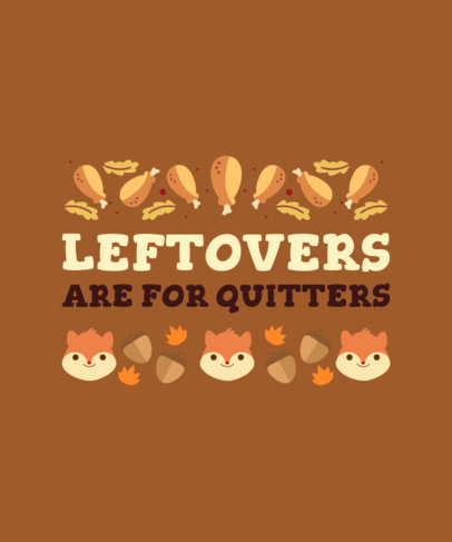 T-Shirt Design Maker Featuring Thanksgiving Leftover Food Graphics 4124e
