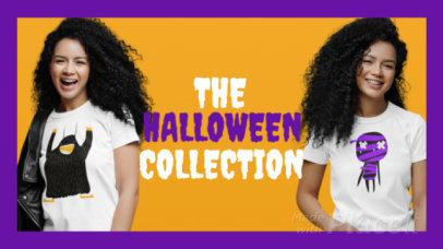 Facebook Cover Video Template for a Clothing Brand's Halloween Collection 2040a 4131