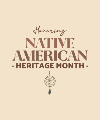 T-Shirt Design Generator for Native American Heritage Month with a Dream Catcher Graphic 1809n 4138