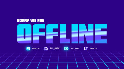 Twitch Offline Banner Maker Featuring a Bold Typeface with Metallic Texture 4461a-el1