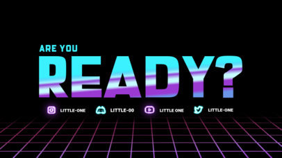 Twitch Starting Soon Screen Creator Featuring an 80's-Inspired Layout 4461d-el1
