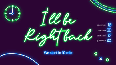 Twitch Offline Banner Maker for Streamers with a Neon Theme 4469a-el1