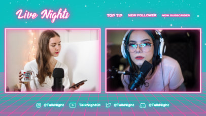 Twitch Overlay Design Creator Featuring Neon-Inspired Lines and a Just Chatting Theme 4472d-el1
