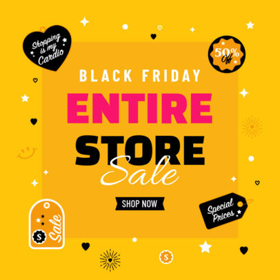Ad Banner Design Creator to Promote Special Offers for Black Friday 4132e