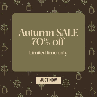 Ad Banner Design Generator Featuring an Autumn Sale and Thanksgiving Graphics 4128b