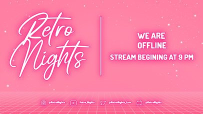 Twitch Offline Banner Design Maker for a Talkshow With a Neon Aesthetic 4473b-el1