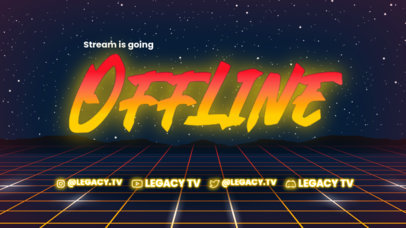 Twitch Offline Banner Generator for a Streamer Who Talks About Sports 4457c-el1