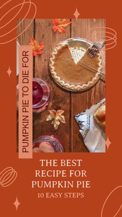Instagram Story Generator for a Pumpkin Pie Recipe 4125b