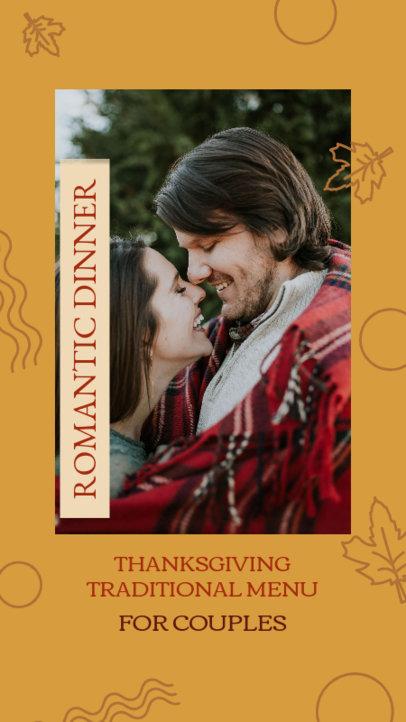Instagram Story Design Generator to Announce a Thanksgiving Romantic Dinner Promo 4125e