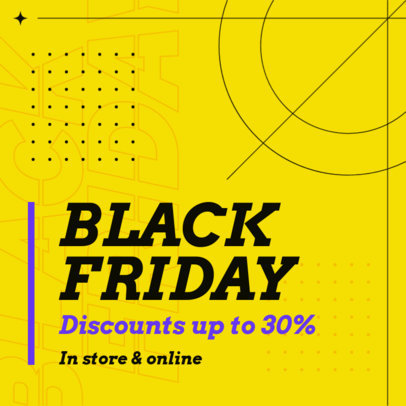 Attractive Instagram Post Template Announcing a Black Friday Promo 4130d