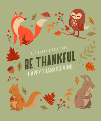 T-Shirt Design Generator Featuring Thanksgiving Illustrations and a Quote 4123A