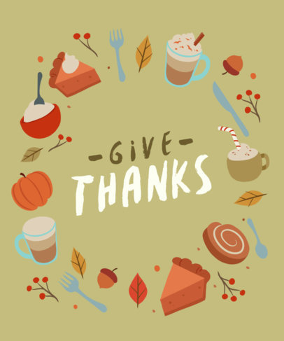 T-Shirt Design Maker With Thanksgiving Food Graphics 4123E