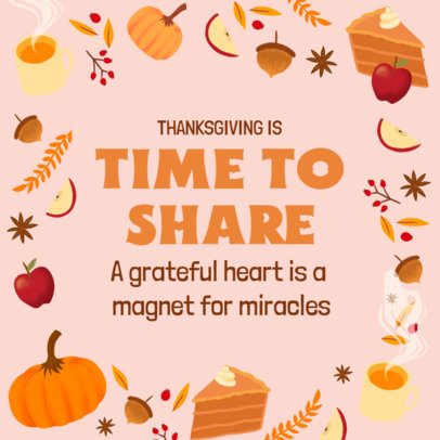 Thanksgiving-Themed Instagram Post Design Generator With Quotes 4127c