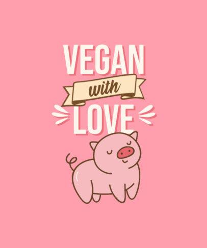 Vegan T-Shirt Design Maker with Kawaii Graphics of Animals 4481-el1