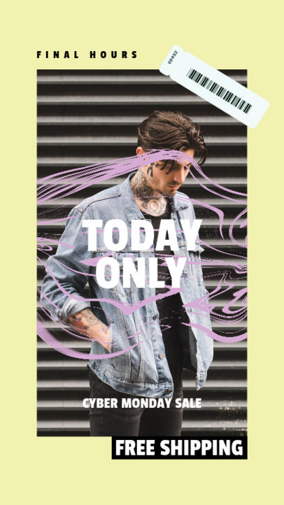 Cyber Monday-Themed Facebook Story Maker for a Trendy Clothing Brand 4145a