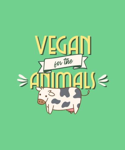 Kawaii T-Shirt Design Maker with a Vegan-Themed Quote 4481d-el1