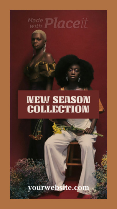 Fashion-Themed Instagram Story Video Creator Featuring a New Season Collection Announcement 1490e 4163