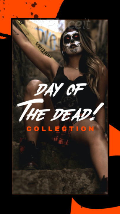 Edgy Instagram Story Video Maker For A Day Of The Dead Clothing Collection Ad 945c-4178