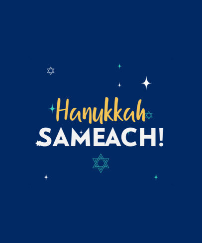 Hanukkah-Themed T-Shirt Design Generator Featuring Minimal Graphics and Quotes 4140f
