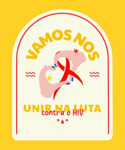 T-Shirt Design Maker for an AIDS Awareness Fundraising Campaign 4151e