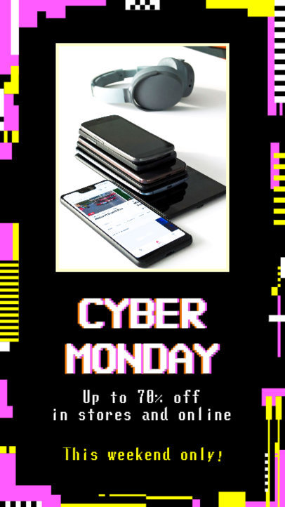 Facebook Story Maker for a Cyber Monday Special Offer 4146d