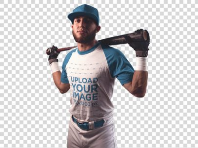 Transparent Baseball Uniform Designer - Batter Inside the Dugout a16344