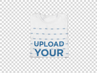 Transparent Mockup of a Folded T-Shirt Surrounded by New Year's Party Items m283