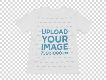 Transparent Mockup of a Round Neck T-Shirt Over a Flat Background a8998